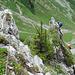 Interessante Felszacken werden bestiegen.