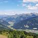 Rückblick nach Norden zum Reschenpass und ins Tirol