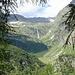 Salendo al Colle del Turlo vista sulla Cascata delle Pisse e la sua valle.