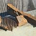 124 g reiner Stahl: die Schürfausbeutung war heute gering