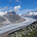 Eine wahrlich spektakuläre Aussicht auf den Aletschgletscher