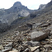 Weglose Querung zum Anstiegsweg Richtung Galtseitejoch Rückblick zum  Brunnkarjöchle + spitze