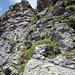 Blick den Kamin hinauf