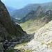 all'imbocco del ripido canale che scende in Val Tronella