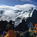Traumhafter Blick vom Piz Morteratsch auf die gesamte Bernina-Gruppe.