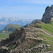 auf dem Grat angekommen, kommt wieder der Alpstein zum Vorschein