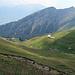 nun geht es den trichterförmigen Abhang hinunter zur Alp, Altsäss Obersäss