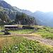 """<b>Alpe Campo la Torba - Grasso di Dentro (1756 m).<br />È una proprietà del Patriziato di Airolo.<br />Già nel 1477 si parlava di una controversia tra Fusio e Leventina per il possesso di quest'alpe che fu tra le cause determinanti della battaglia di Giornico combattuta nel 1478.<br />Il 1° febbraio 1974, il Consiglio di Stato risolse che """"l'Alpe di Campo la Torba fa parte integrante del territorio giurisdizionale del Comune di Fusio"""". Il Tribunale federale confermò nel 1978 la validità di questa decisione, ponendo così termine alla secolare controversia.</b>"""