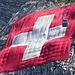 1. August - der Nationalfeiertag der Schweiz. Die Fahne am Säntis wiegt 700 kg... Zuvor sind wir mit der Luftseilbahn gemütlich zu Tale gegondelt.