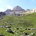 Arrivée au pâturage de La Forcla où paît un troupeau de vaches.