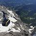 Hunerkogel - Blick von der Bergstation der Dachstein-Gletscherbahn (Dachstein-Südwandbahn) zur Talstation. Gleich geht es dort hinunter. Morgen früh kehren wir aber bereits wieder zurück, für eine erneute Tour auf den Hohen Dachstein...