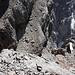 Im Abstieg vom Hohen Dachstein (via Westgrat) - Tiefblick entlang der Südwand.