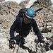 Im Abstieg vom Hohen Dachstein - Anfangs geht's wieder über den Randkluftsteig abwärts, bis wir später auf den Schulteranstieg abbiegen. In der Regel bewegt sich Schwierigkeit der Klettersteige zwischen A und B.