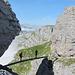 Bei der Charlottenbrücke - ein Highlight des Klettersteiges.