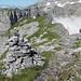 Vom mittleren Eggstock zeigt sich die schwierigste Etappe des Braunwalder Klettersteiges - jene auf den Hinteren Eggstock.