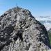 Der Gipfelaufbau des Bös Fulen - die dritte Schlüsselstelle auf dem Grat.