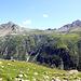 Vue de Bockflue, Pizzo Straciugo (2713m), Ricca (2534m) et Cima del Rosso.