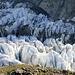 Schatten zieht sich über den Gletscher