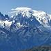 monte Bianco e l'Aiguille Verte a sx...