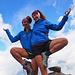 lezioni di yoga a 2800 metri ahahaha