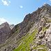 Abstiegsgrat und Grasflanke (hierüber sind wir aufgestiegen)