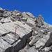 zuoberst sind einige Kletterpassagen zu bewältigen