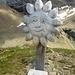 la scultura lignea della vetta del piz da l'Ova Cotschna