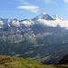 Blick auf drei grossartige Gipfel, auf welchen ich schon stehen durfte.