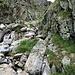 """Intorno ai 1970 metri, sopra l'Alpe Asinello, il torrente ha """"portato via"""" parte del sentiero ma il passaggio è comunque non troppo difficoltoso."""