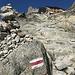 ... vor den letzten Aufstiegsmetern zur Cabane d'Orny
