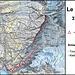 Meine Route über den Südwestgrat zum Le Pleureur (3703,5m). Den Biwakplatz auf 2665m kann ich empfehlen da er schön gelegen ist, genügend Platz hat und gleich daneben ein kleiner See liegt. Weiter oben am Berg hat es keine dauerhaften Wasserstellen mehr.