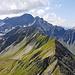 Blick vom Fanastock zum Muotertalgrat, Marchegghorn, Alplichopf, Gross Schiben, Sardona