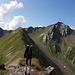 Blick vom Heidelspitz zum Hangsackgrat 2633m (rechts)