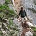 Der Abstieg über die Sigeretplatte ist teilweise etwas ausgesetzt und drahtseilversichert.