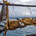 Stockfisch - knüppelhart und locker 10 Jahre haltbar, auch ohne Kühlschrank. Exportartikel hauptsächlich von den Lofoten; das meiste geht nach Portugal und Spanien.