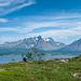 Aussicht auf die Lyngen Alpen