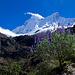 Chacraraju, von der ersten Steilstufe aus