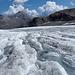 Gletscherbäche auf dem Allalingletscher