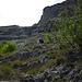 Unterhalb des Felskopfs, die erste längere Steigbügelstelle. Oben die Vorhut der schon lange getrennt laufenden 4er Gruppe der Polen.