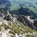 Schon fast am Gipfel: Rückblick auf den Grat