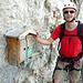 Der Steig ist geschafft - das Steigbuch in 1200m.  Der Gipfel noch lange nicht....
