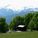 Blickrichtung Adamello-Gruppe - davor das Hüttchen Rifugio Don Zio (1600m)