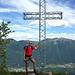 Am Gipfelkreuz des Monte Casale 1631m - geschafft nach 4:20h Hitzeschlacht  - aber glücklich.