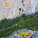 Vielfarbige Felsen an der Wegverzweigung Plasseggenpass und St.Antönier Joch