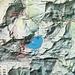 Karte mit Wanderrouten