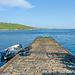 Leebitten - die Mousa Ferry fährt von hier