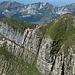 oberer Grataufschwung vom Gipfel aus betrachtet