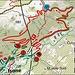 22° Rally Ronde del Ticino : Percorso delle PS 2 .. 3 ..5 a Isone