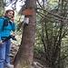 Au début du sentier versant San Domenico - ne pas oublier de réserver !