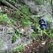 der Abstieg zum Wasserfall ist bestens ausgebaut und gesichert